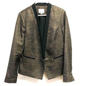 Black & Gold Ann Taylor Loft Suit Coat
